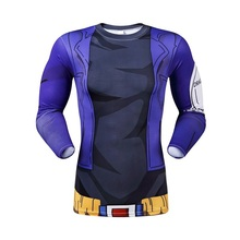 Hot New 2016 men's wear long-sleeved round collar tight t-shirts fashion brand of high quality news compressed T-shirt