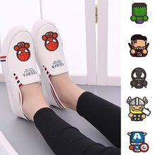Superhero Marvel Spider-Man Thor Hulk Captain America Womens Casual Fashion Summer Low-Top Double-layer Canvas A193291