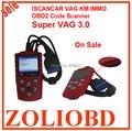 Лучшие Продажи 2017 Супер VAG 3.0 ISCANCAR VAG KM ИММО OBD2 код Сканер настроить пробег читать иммобилайзер код супер VAG IMMO v3.0