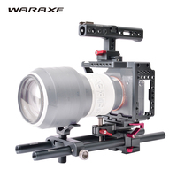 DSLR Rig Stabilizer Video Camera Cage Kit Follow Focus Matte Box Stabilizer Top Handle Grip For Sony A7S A7 A7R A7RII A7SII