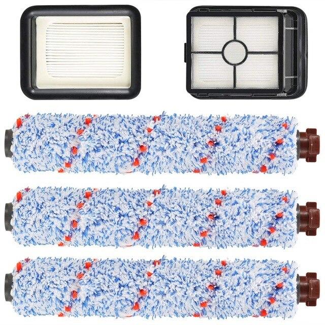 مناسبة ل bissale Crosswave 1785/2306 سلسلة 3 حزمة متعددة سطح 1868 فرشاة لفة و 2 حزمة 1866 مرشح مكنسة/فلتر مكنسة