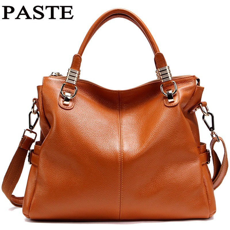 PASTE Women Genuine Leather Handbags Cowhide Women Messenger Bags Bolsa Femininas Oil Wax Leather Handbag Vintage Designer T236 sharpener polishing wax paste metals chromium oxide green abrasive paste chromium oxide green polishing paste
