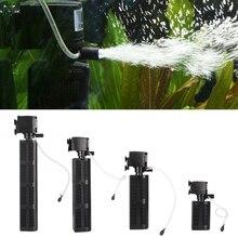 Высокое качество Mini 3 в 1 Многофункциональный аквариум фильтр погружной насос ЕС вилку большой Мощность аквариум очиститель резервуар для воды фильтр
