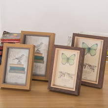 European Style Photo Frame Butterfly And Bird Wooden Wall Creative New House Decoration Craft Ornaments