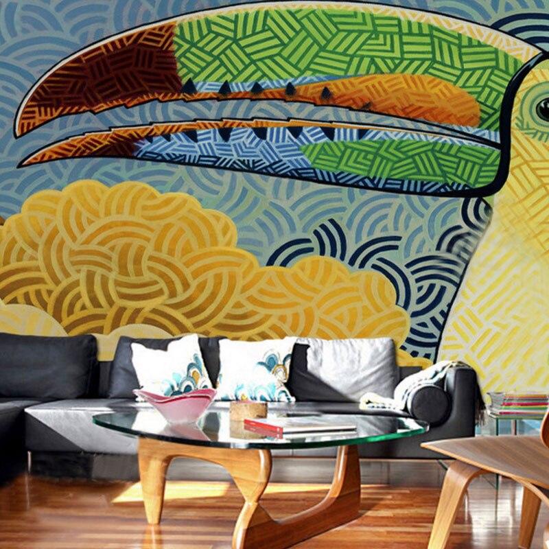 photo wall mural decoration wallpaper Modern Abstract Graffiti Art ...
