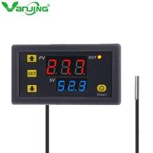 W3230 AC 110V-220V DC12V 24V Digital Temperature Controller Thermostat Regulator Heating/Cooling Control Switch LED Display