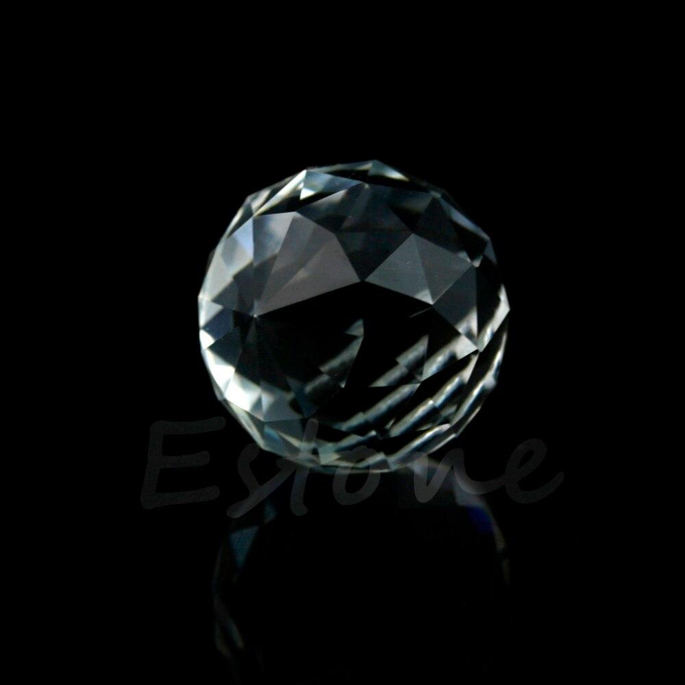 5 шт 20 мм прозрачный хрустальный шар лампа призмы Часть Свадебный декор подвесной кулон-B119