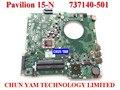 Nuevo 737140-501 para hp pavilion 15-n laptop motherboard da0u92mb6d0 rev: d a8-4555m mainboard 100% probado garantía de 90 días