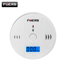 Fuers 85dB Carbon Monoxide Detectors LCD Photoelectric Independent CO Sensor Poisoning Warning Alarm CO Gas Sensor Detectors