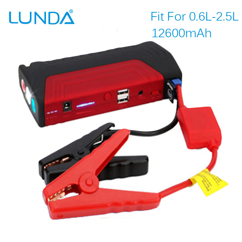lunda 600a peak portable 12v car jump starter auto battery booster power bank for engines up to. Black Bedroom Furniture Sets. Home Design Ideas