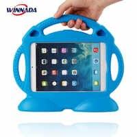 Funda para iPad 2/3/4 no tóxica EVA handgrip soporte a prueba de golpes EVA cubierta de cuerpo completo para niños funda de silicona segura para niños