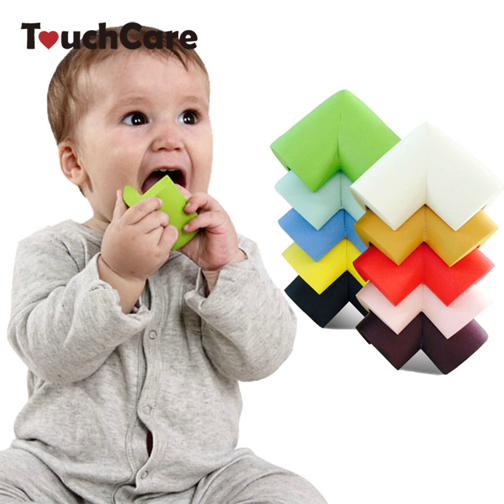 8Pcs/lot 60*60*12mm Soft Baby Safe Corner Protector Baby Kids Table Desk Corner Guard Children Safety Edge Guards