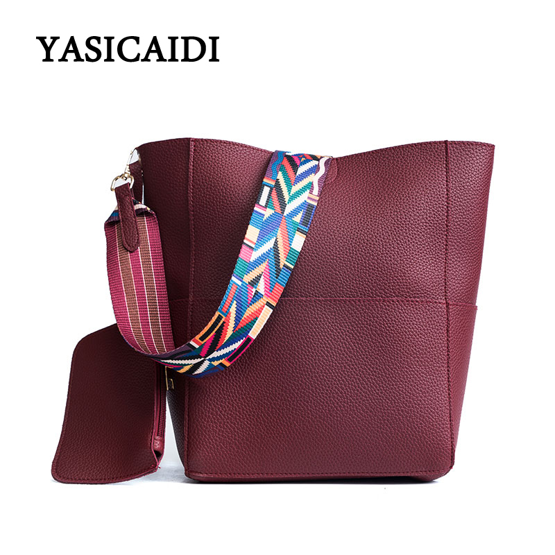 Detail Feedback Questions about Fashion Women bag with Colorful Strap  Bucket Bag Women PU Leather Shoulder Bags Brand Designer Ladies Crossbody  messenger ... a11e372bc9d04
