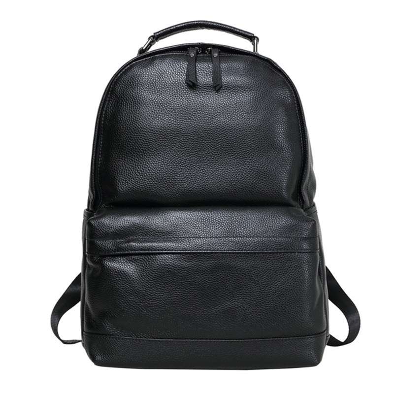 Male Backpack Genuine Leather Man s Large Capacity Mochila Laptop Bolsa Shoulder Business School Travel Teenager