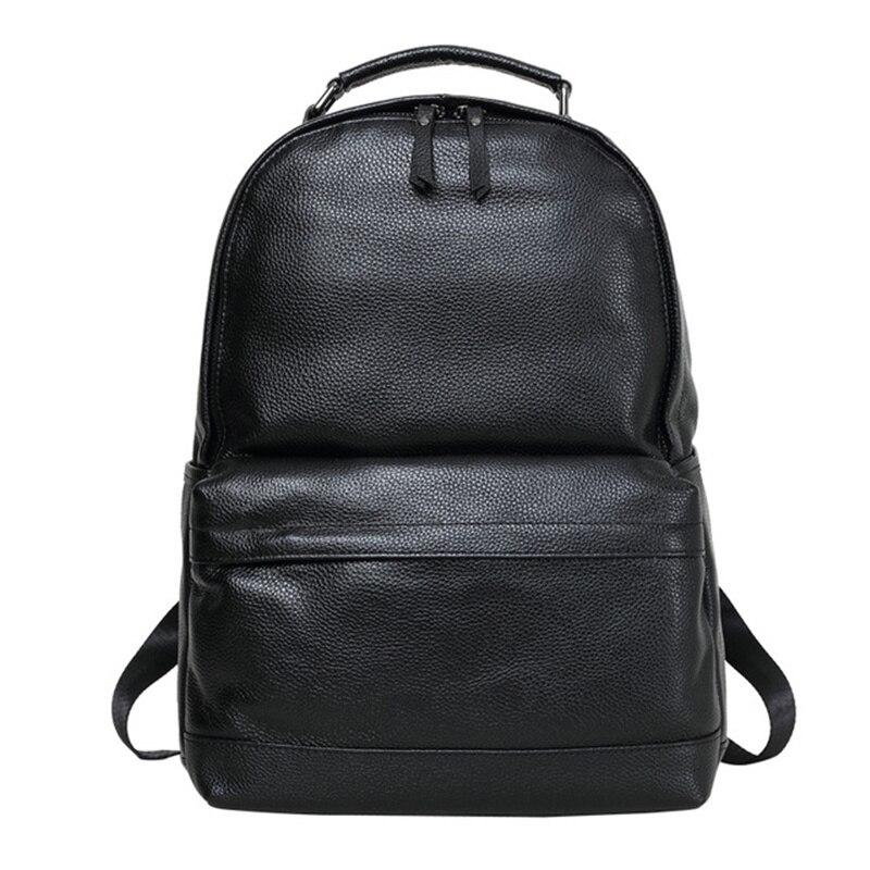 กระเป๋าเป้สะพายหลังหนังแท้ขนาดใหญ่ความจุแล็ปท็อป Mochila Bolsa กระเป๋าสะพายกระเป๋าเดินทางวัยรุ่นของขวัญ Feminina-ใน กระเป๋าเป้ จาก สัมภาระและกระเป๋า บน   1