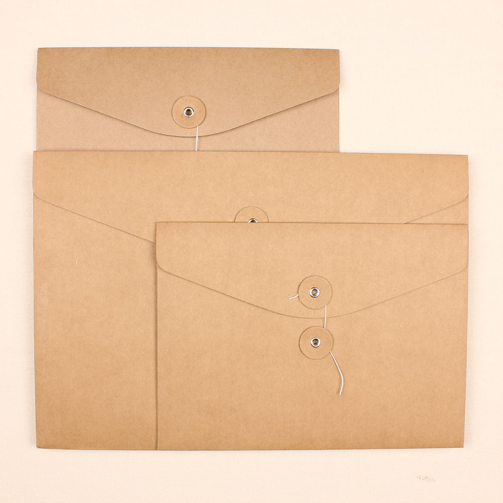3223cm blank brown kraft paper a4 paper conference folder kits document bag party file a4 paper file folder