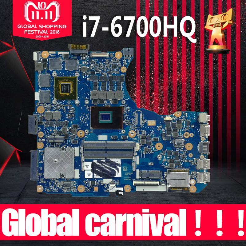 N551VW Motherboard I7-6700HQ 2G For <font><b>ASUS</b></font> <font><b>N551V</b></font> G551V FX551V G551VW FX51VW laptop Motherboard N551VW Mainboard N551VW Motherboard image