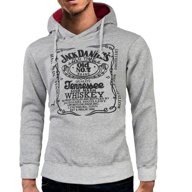 Jack's Letter printing Sweatshirt Stylish Hoodies Unisex color: Dark Grey Gray Navy blue Red