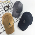 New Plain Ring Suede Baseball Cap Hip Hop Curved Hat For Women Men Adjustable Winter Snapback Bone Gorras Casual 6 Panel Hat