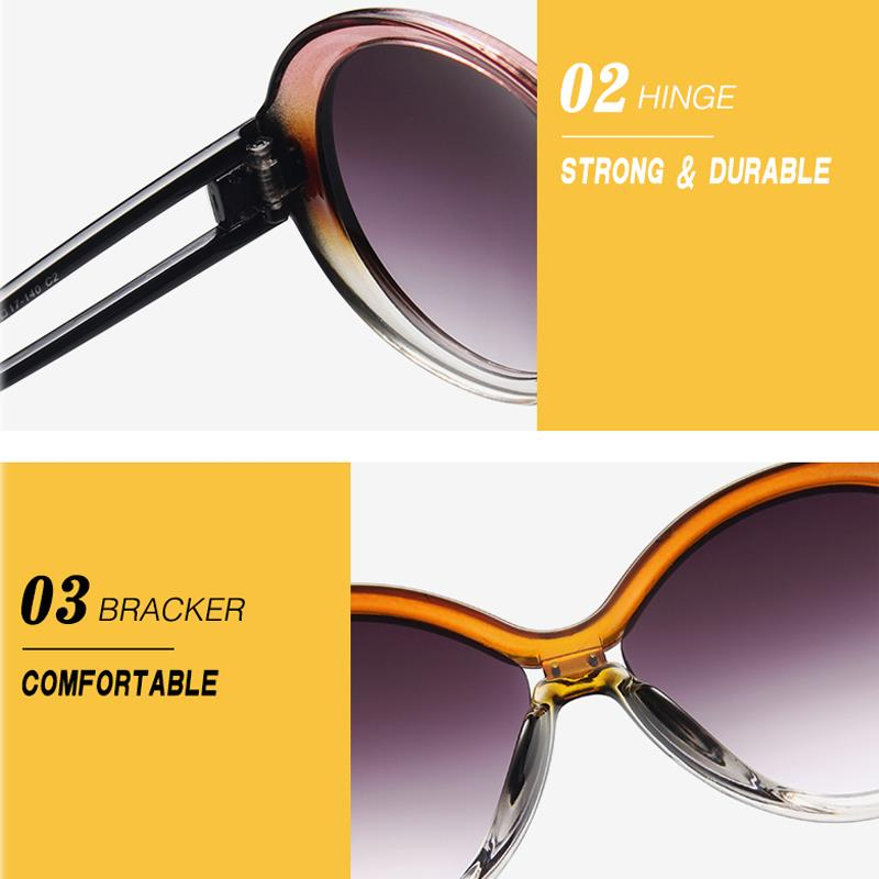 LongKeeper Vintage Round Sunglasses Women Designer Classic Brand Luxury Gradient Shades Eyewear Oculos De Sol Feminino UV400 in Women 39 s Sunglasses from Apparel Accessories