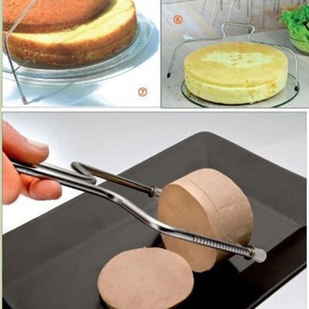 Household Diy Baking Tools Bread Divider Double Line Cake Slice Layerer Cake Baking Tools(China)