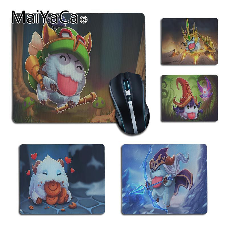 MaiYaCa New Arrivals Poro League Of Legends Laptop Computer Mousepad Rubber Mouse Pad Computer Game Tablet Mousepad For Dota2