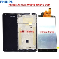 Philips Xenium W6618 W6610 LCD Display With Touch Screen Digitizer with Frame Replacement Parts withTools 5.0 LCD Assembly