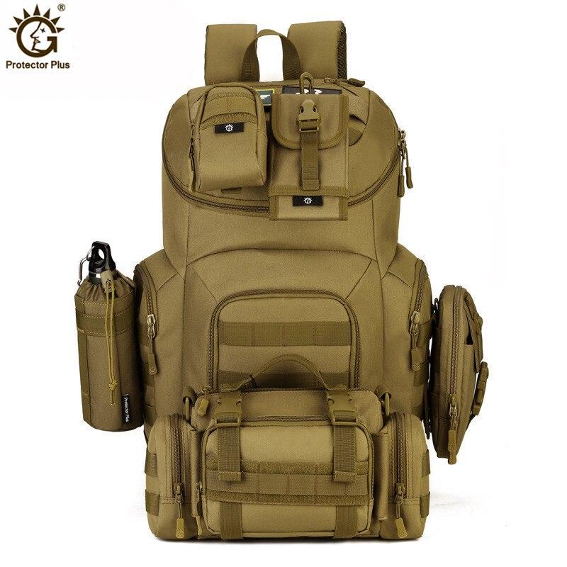 8d90644669b43 Marke 40L Wasserdichte Nylon Military Rucksäcke Molle Armee Rucksack  Reisetasche für Männer Frauen Mochila Escolar S420