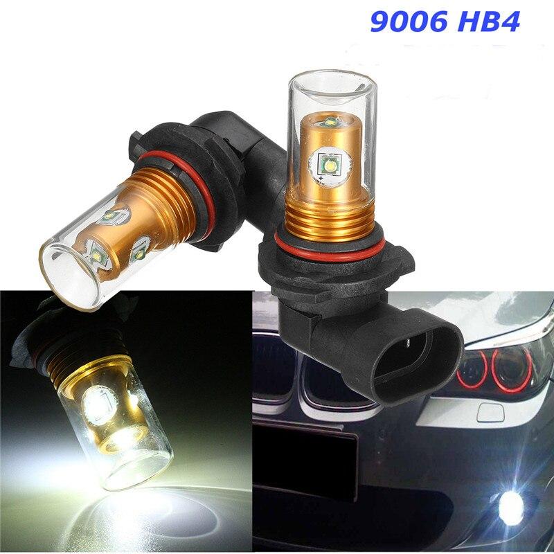 2Pcs 25W Xenon White XB-D 9006 HB4 LED Bulbs Car For High Beam Daytime Running Lights Fog Lamps For Audi/BMW/VW