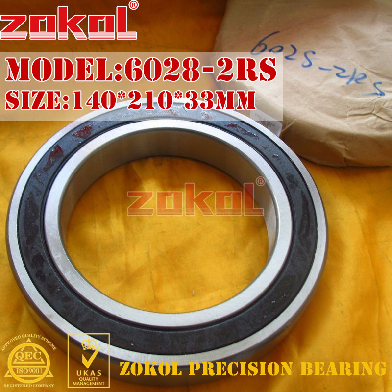 ZOKOL 6028RS bearing6028 2RS 180128 6028-2RS Deep Groove ball bearing 140*210*33mm цена