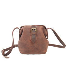 New Retro Women Messenger Bag Crazy Horse Leather Shoulder Bag for Ladies Vintage Crossbody Bags Female Mini Cross Body Bag