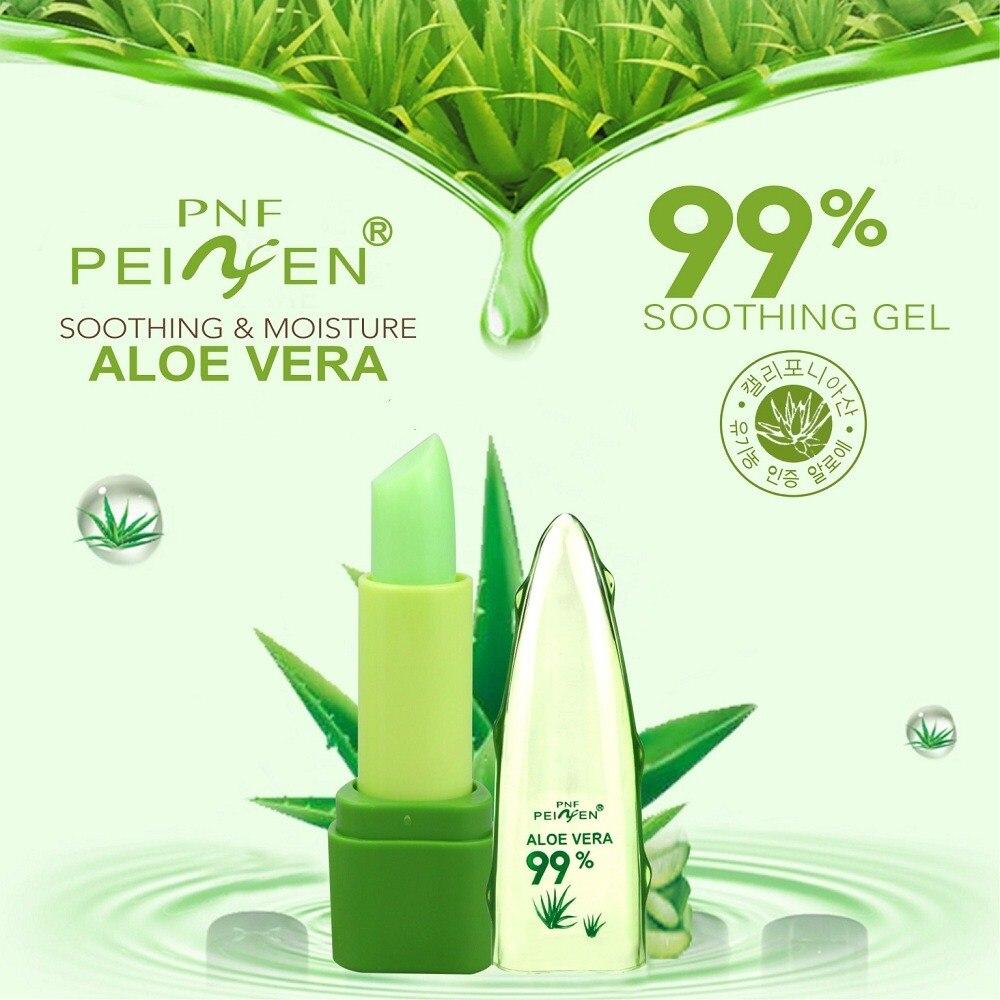 Pure Natural Aloe Vera Natural Moisturizer Lipstick Temperature Changed Color Lipbalm Magic Pink Protector Lips Cosmetics 1