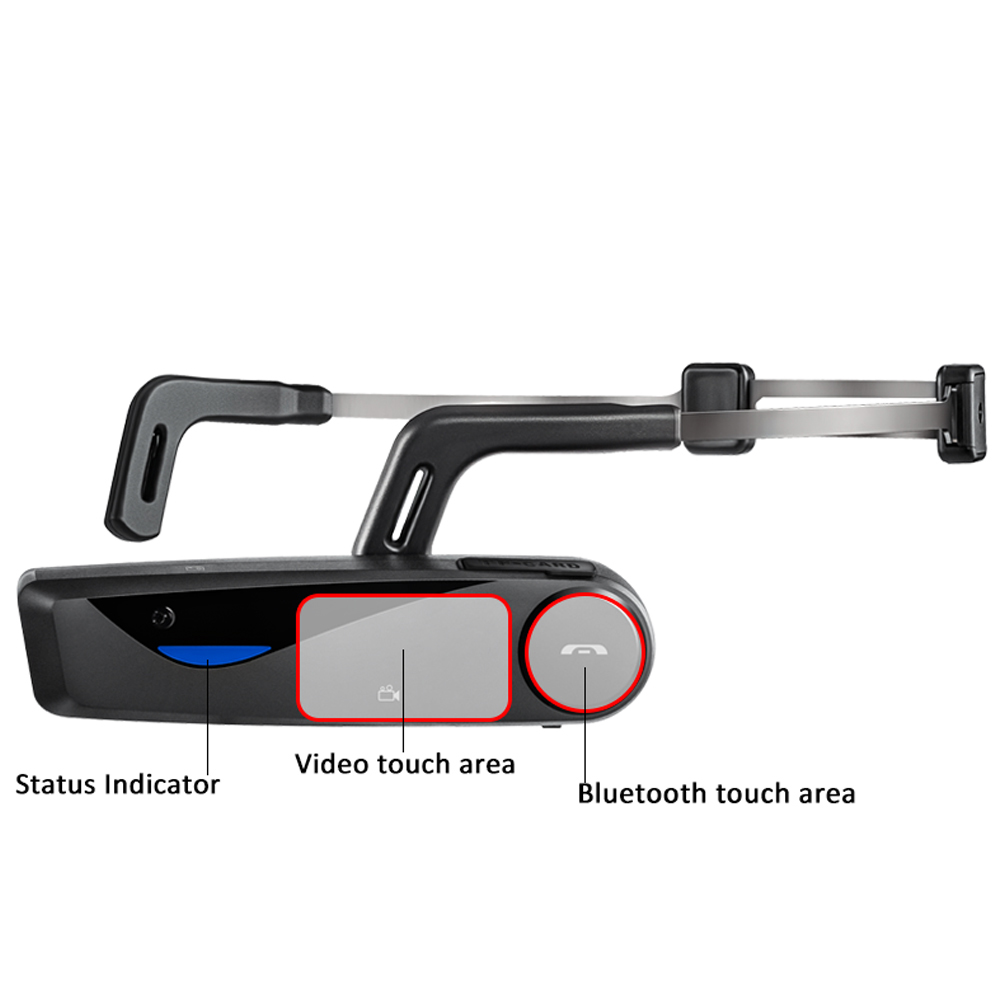 100% Original ORDRO EP5 Bluetooth 4 .0 Hand Free Head Band Action Mini DV Camera Consumer Camcorders with earphone WiFi Free