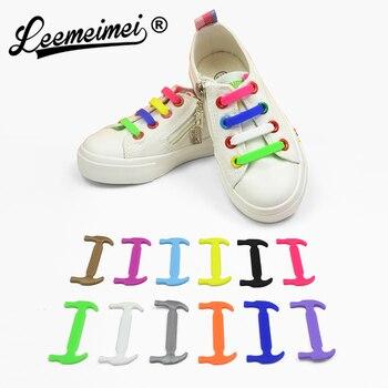 bajo precio 48f4a 3fb86 10 unids/par niños zapatos elásticos de silicona zapatillas de cordones sin  cordones zapatos para niños cordones deportivos para bebé correa de ajuste  ...