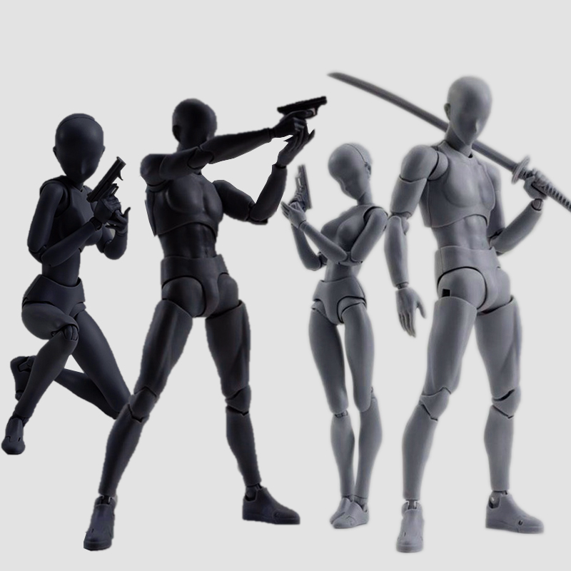 6 Type Body Chan Body Kun Figure Gray Black Orange Color Jonit Moveable PVC Action Figures shfiguarts pvc body kun body chan body chan body kun grey color ver black action figure collectible model toy