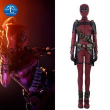 Deadpool Costume Women Halloween Carnival Cosplay For Full Set With Boots Custom Made