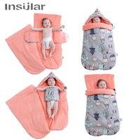 Insular Baby Sleeping Bag Windproof Soft Warm Envelope Baby Stroller Footmuff Universal Stroller Accessories Baby Sleeping Sack