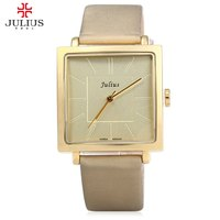 Watches Women JULIUS Brand Quartz Watch Lady Luxury Rose Gold Antique Square Leather Dress Wrist Watch