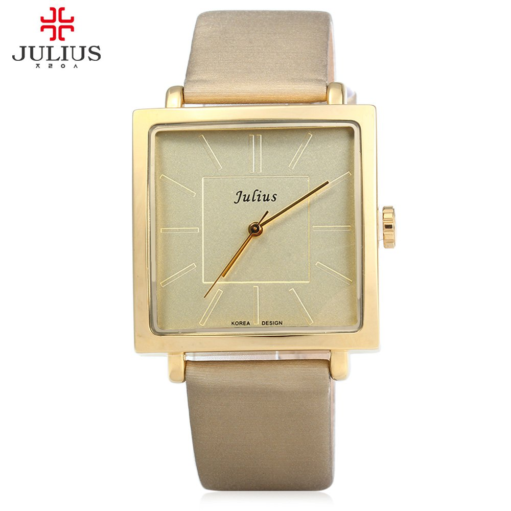 Watches Women JULIUS Brand Quartz Watch Lady Luxury Rose Gold Antique Square Leather Dress Wrist watch Relogio Feminino Montre watch women luxury brand lady crystal fashion rose gold quartz wrist watches female stainless steel wristwatch relogio feminino