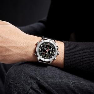 Image 5 - New NAVIFORCE Men Watches Top Luxury Brand Mens Dual Display Military Sport Watch Male Fashion Waterproof Quartz Wrist Watch