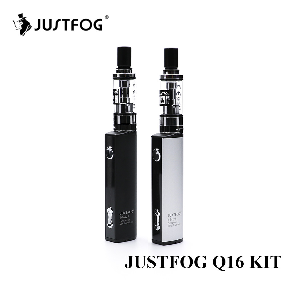 2pcs/lot Justfog Q16 Starter Kit with 900mAh J-Easy 9 battery new Electronic Cigarette Vape Pen Kit with 2.0ml Q16 clearomizer