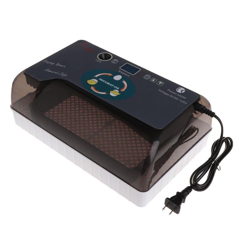 110 V US Plug oeuf incubateur couveuse universelle pour ferme poulet oie Pigeon caille oeufs dispositif à couver Mini professionnel LED Elec