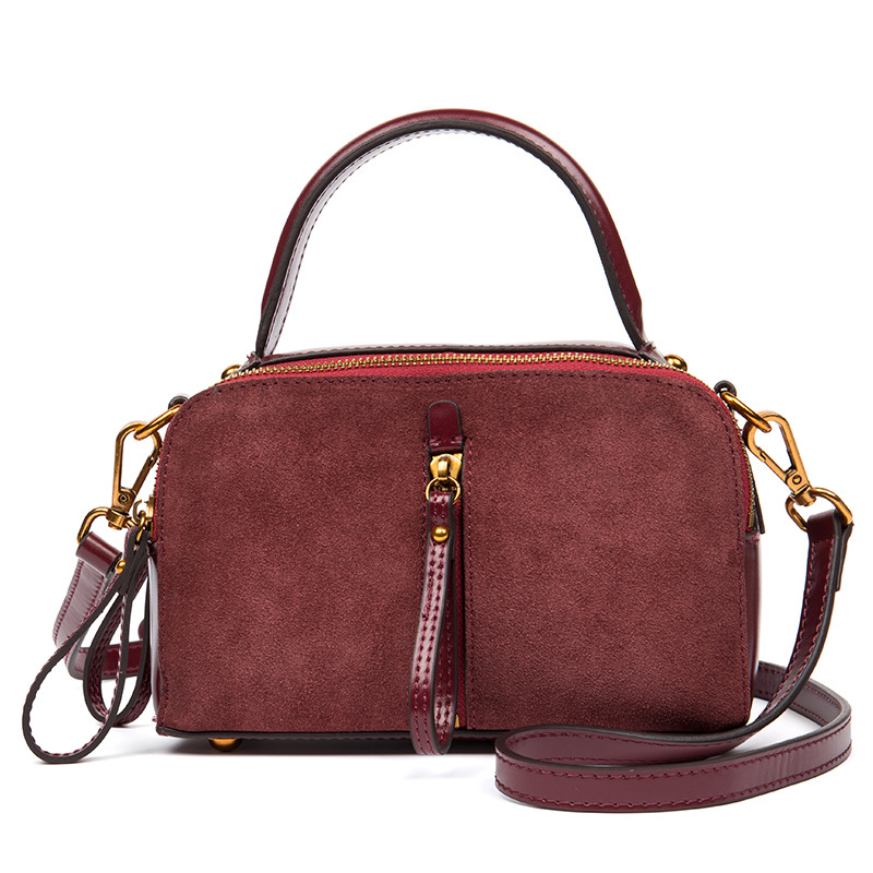 red Véritable Femmes À Pour Mode Daily Dame D'épaule La Hmily Casual green Black Brown Messenger Main Naturel En Cuir yellow Sac Sacs brown 4UdqX