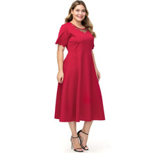2019 Summer New Fashionable Plus Size Middle Eastern Muslim Women Long Dress Hollow Mesh Solid Color Loose Ladies Maxi