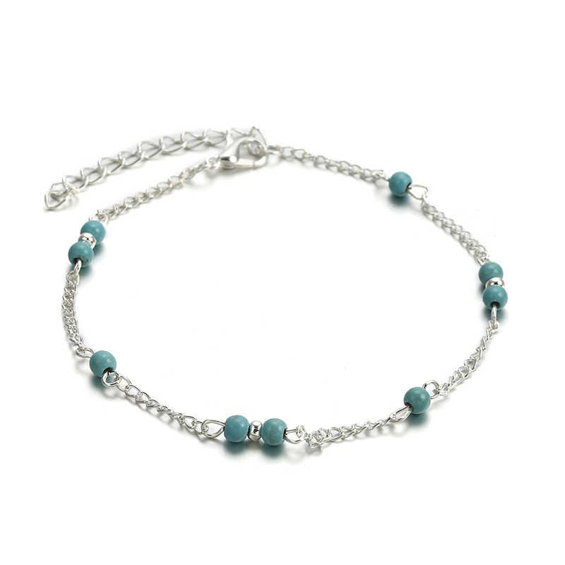Морская звезда, черепаха женские браслеты для щиколотки, Аксессуары для ног, летние сандалии с босиком на пляже, серебряный браслет, женские ботильоны