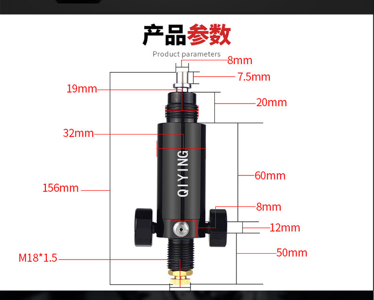 Airforce condor pcp High pressure cylinder valve and high pressure Valve explosion proof of constant pressure valve pcp condor 35mpa pcp valve high pressure gauge for constant pressure valve factory outlet on sale