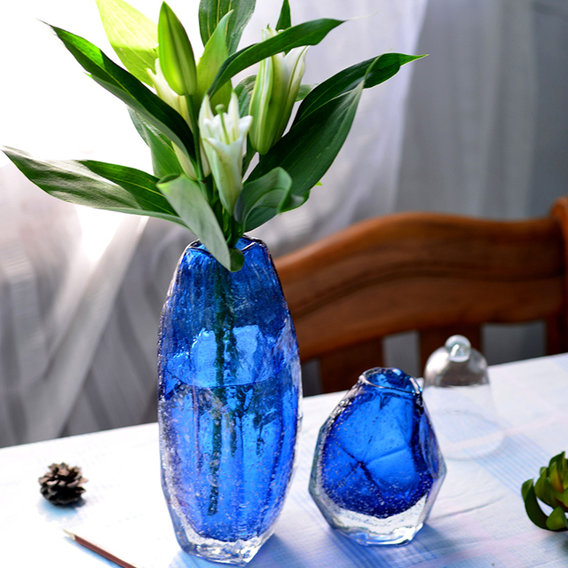 Modern Handmade Terrarium Colored Glass Vase For Decoration Home