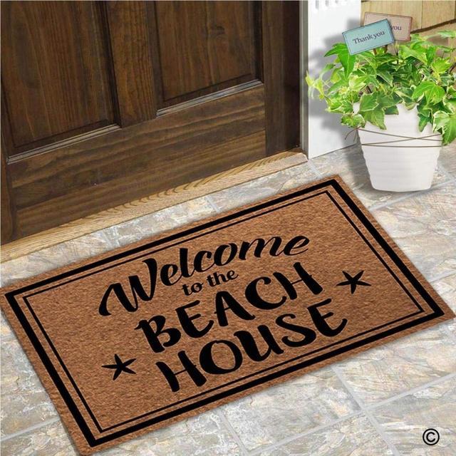 Funny Doormat Entrance Floor Mat Welcome To The Beach House Unique Design  Decorative Indoor Outdoor Door