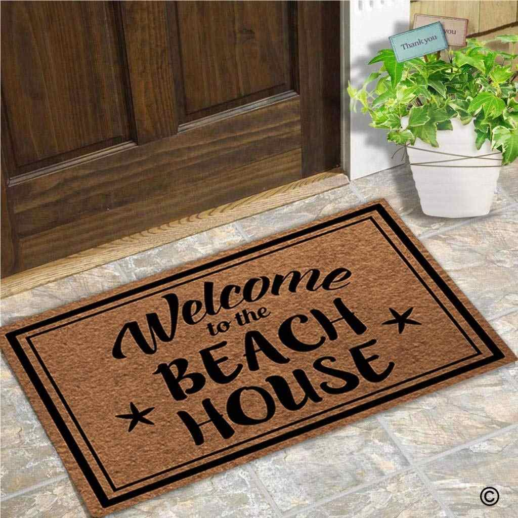 Funny Doormat Entrance Floor Mat Welcome To The Beach House Unique