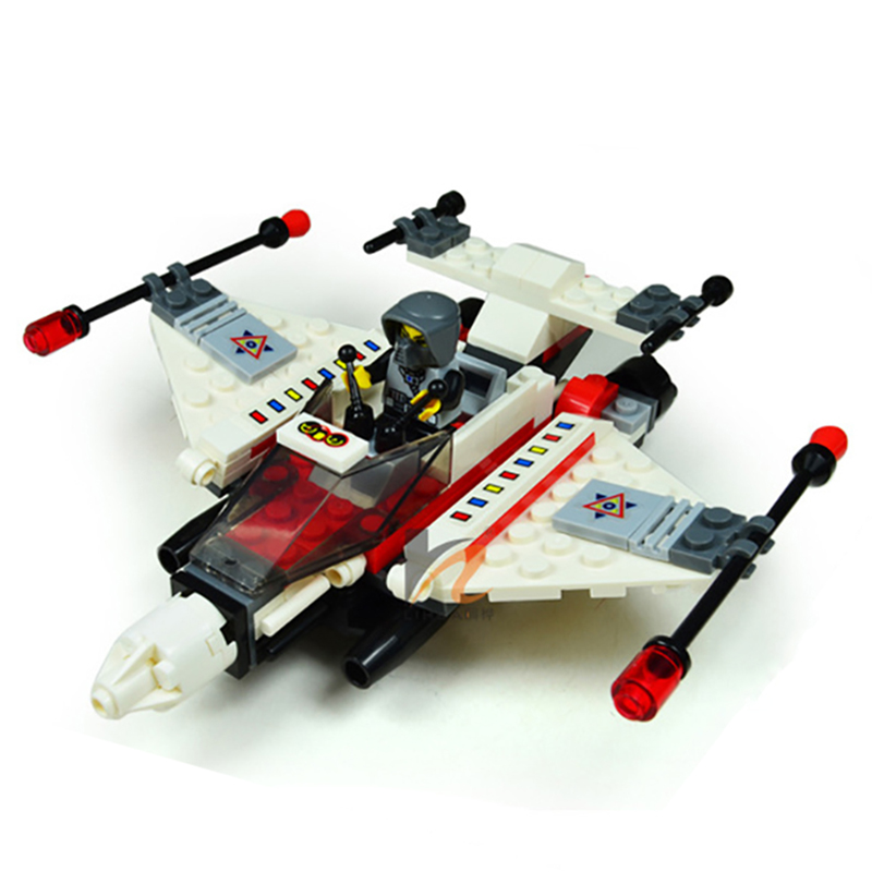 129pcs Space Series Fighter Aircraft Children Building Blocks Airplane Assemble Enlighten Bricks Kids Toys Gifts K2645-32003 toys in space